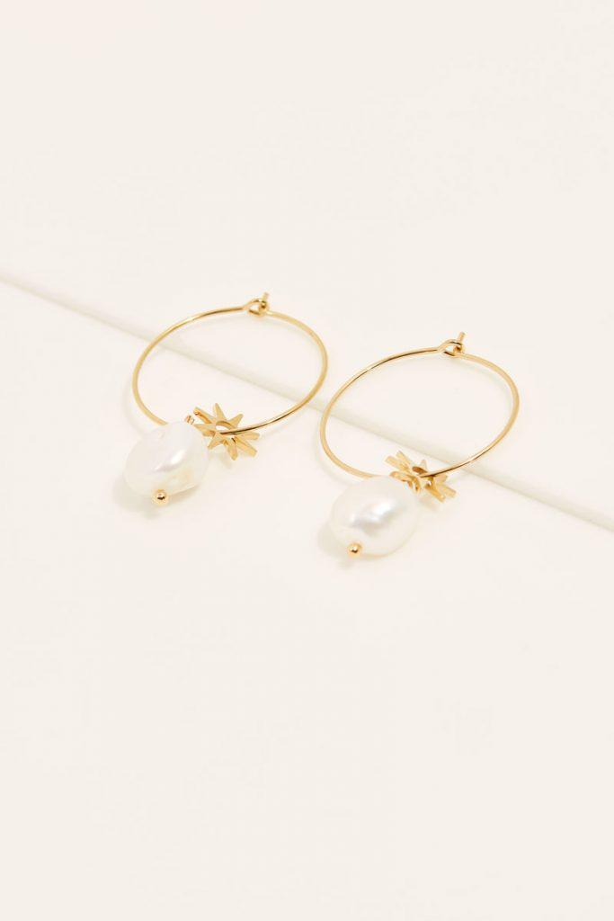 collectionIRL boucles d'oreilles perle eau douce