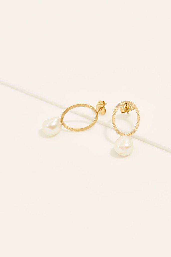 collectionIRL boucles oreilles perle d'eau douce