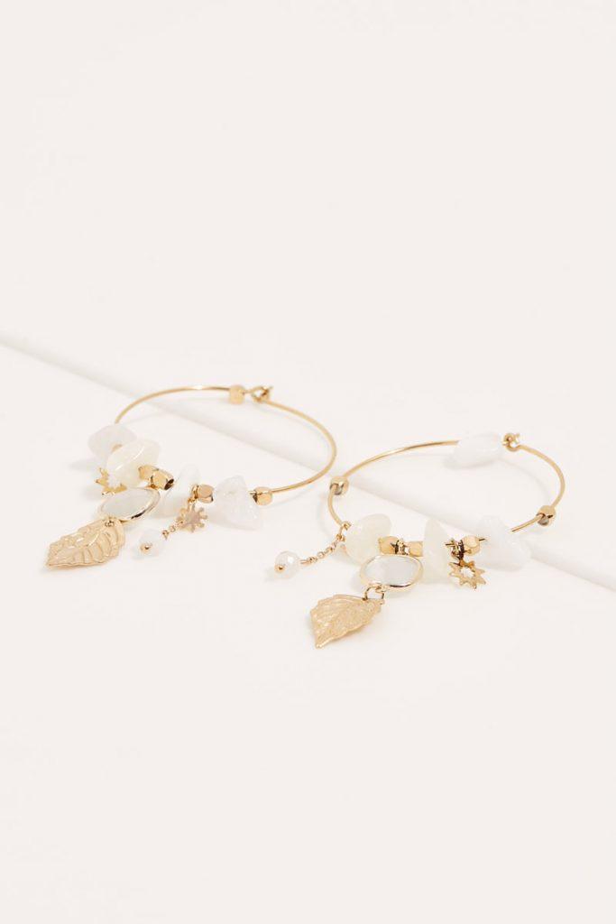 collectionIRL boucles d'oreilles perles dorées