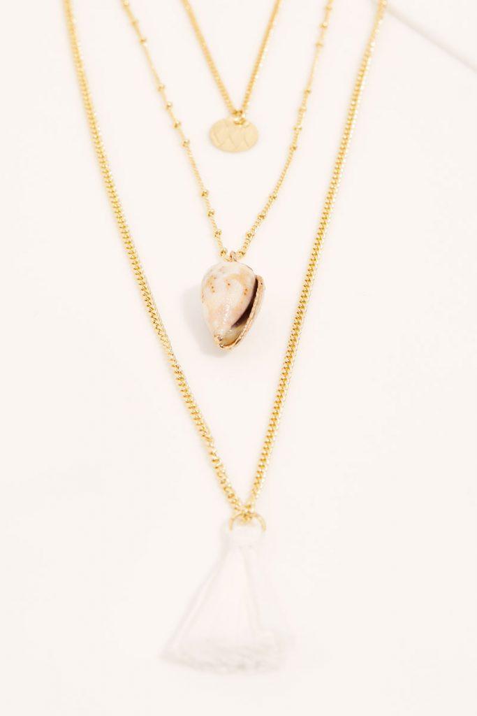 collectionIRL collier triple rang doré or fin