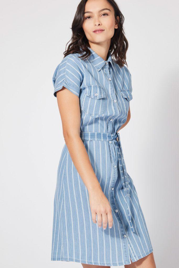 collectionIRL robe chemise ceinturée