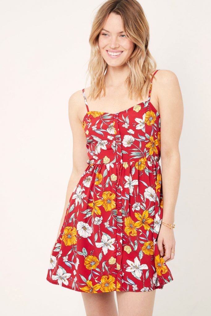 collectionIRL robe courte fleurie