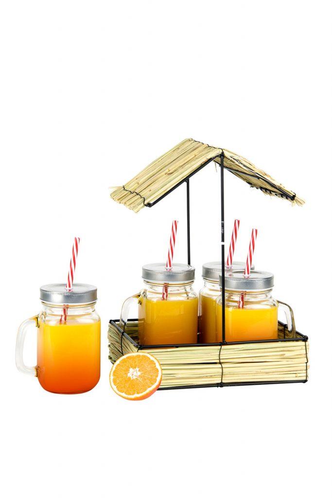 Je cherche une idée 4 mason jar support paillote