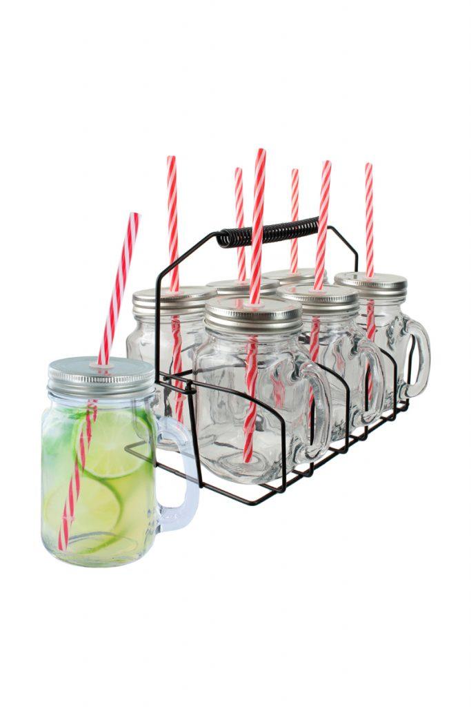 Je cherche une idée 6 mason jar cocktail support
