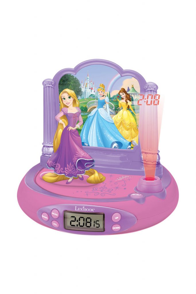 Disney radio réveil projecteur princesses disney
