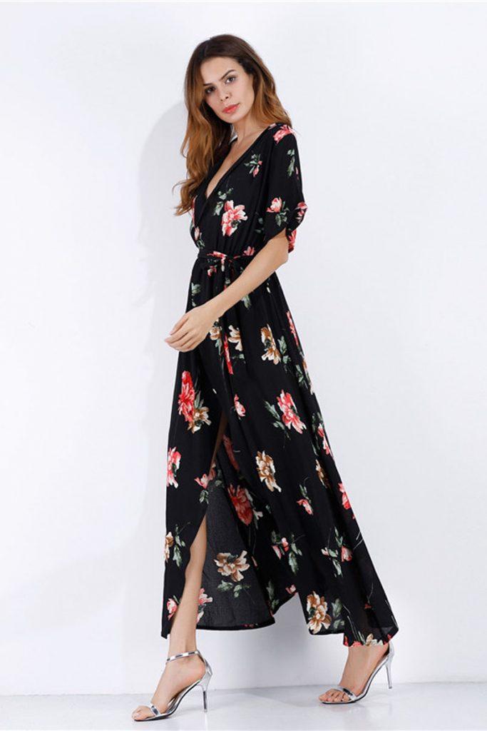 Pretty Summer robe mi-longue