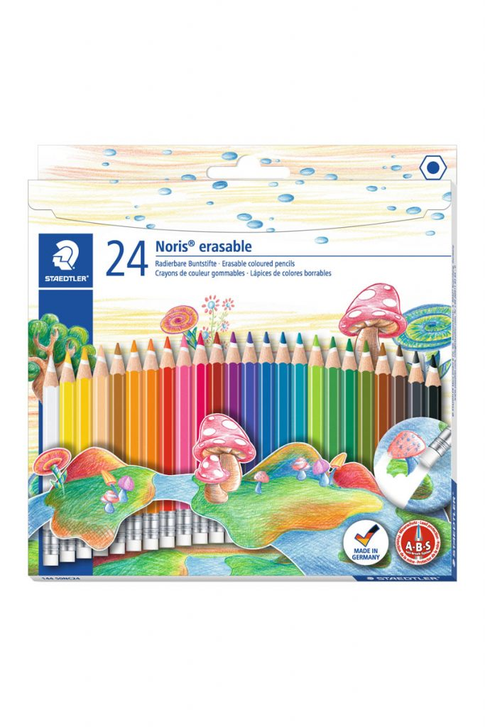 Staedtler 24 crayons de couleur gommables