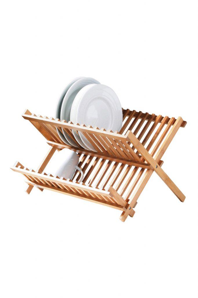 Univers cuisine égouttoir en bambou pliable
