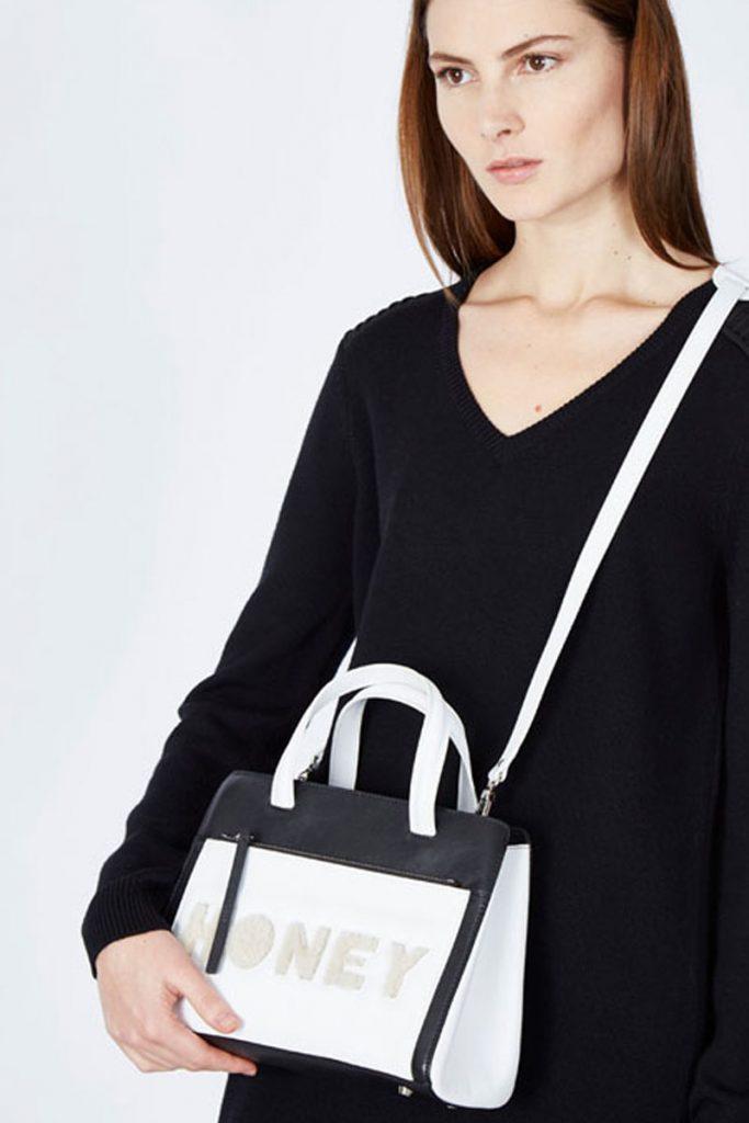 Zapa sac à main en cuir blanc