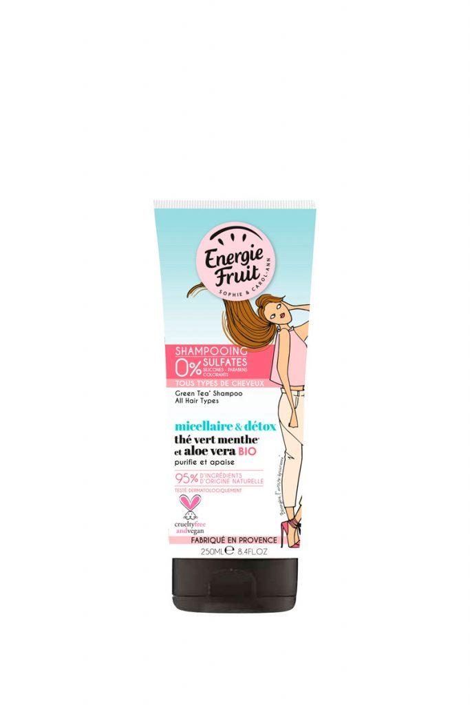 Energie Fruit 3 shampoings micellaire détox et bio
