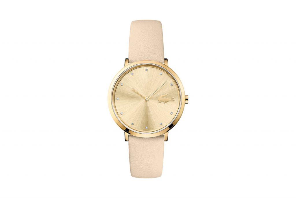 Lacoste montre à quartz en cuir