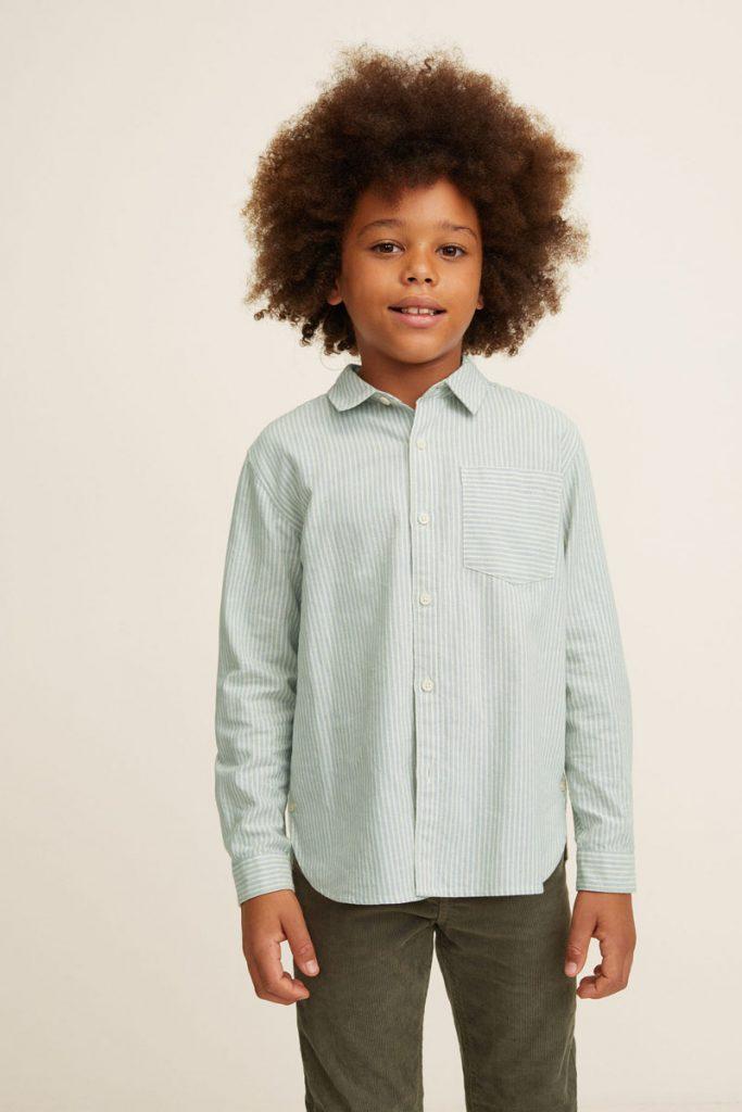 Mango Kids chemise rayée