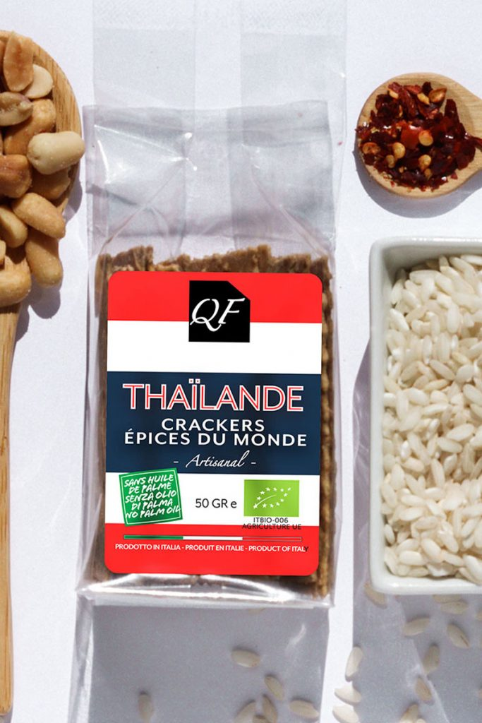 Bio & Diet Food crackers aux épices du monde Thaîlande