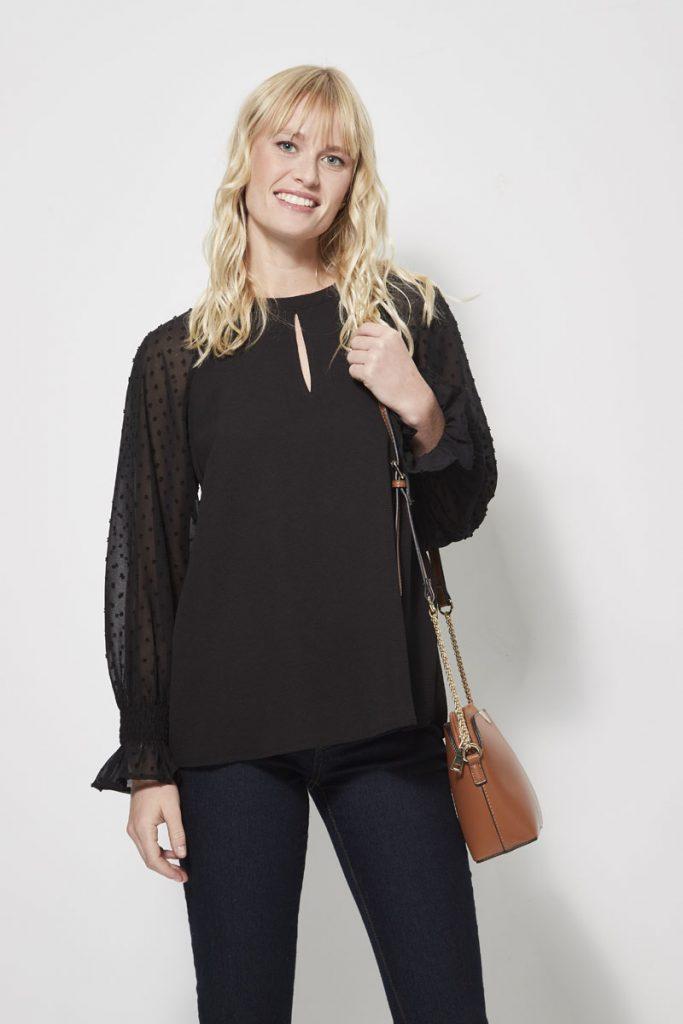 collectionIRL blouse manche plumetis