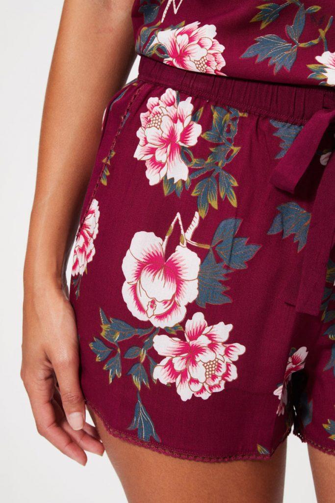collectionIRL Body short de pyjama fleuri