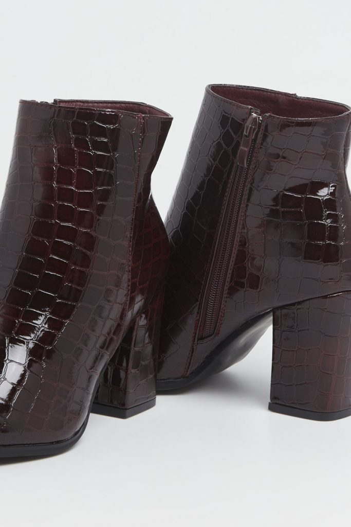 collectionIRL bottines talons effet croco