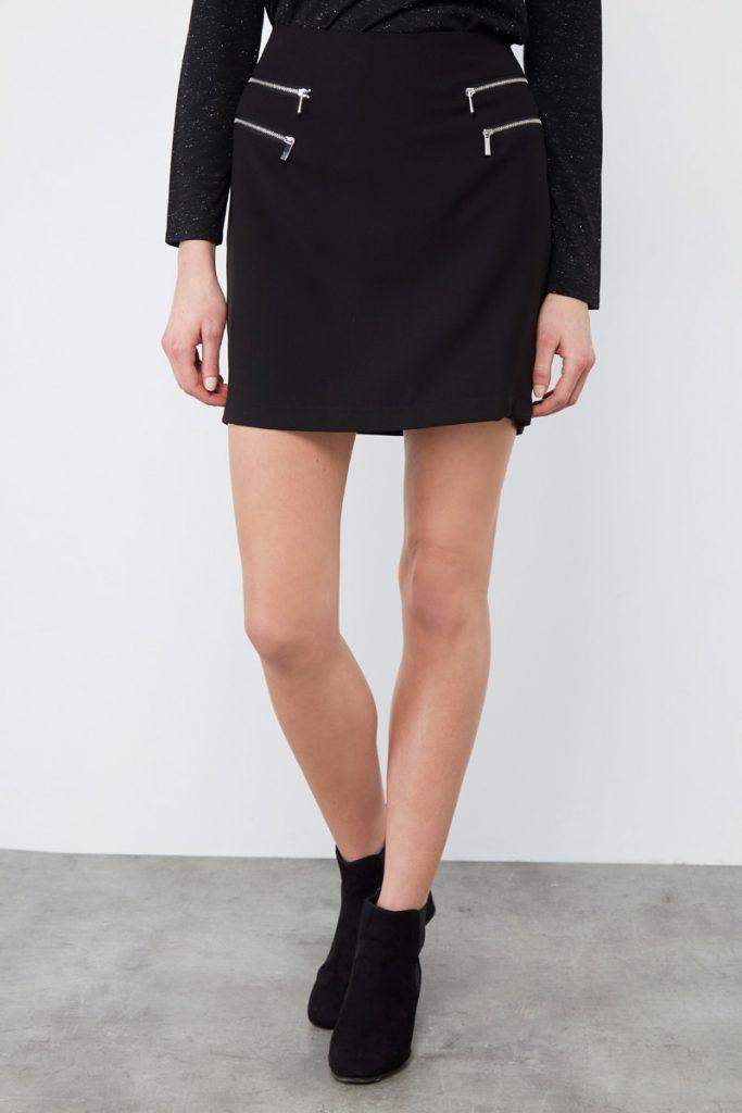 collectionIRL jupe courte zippée