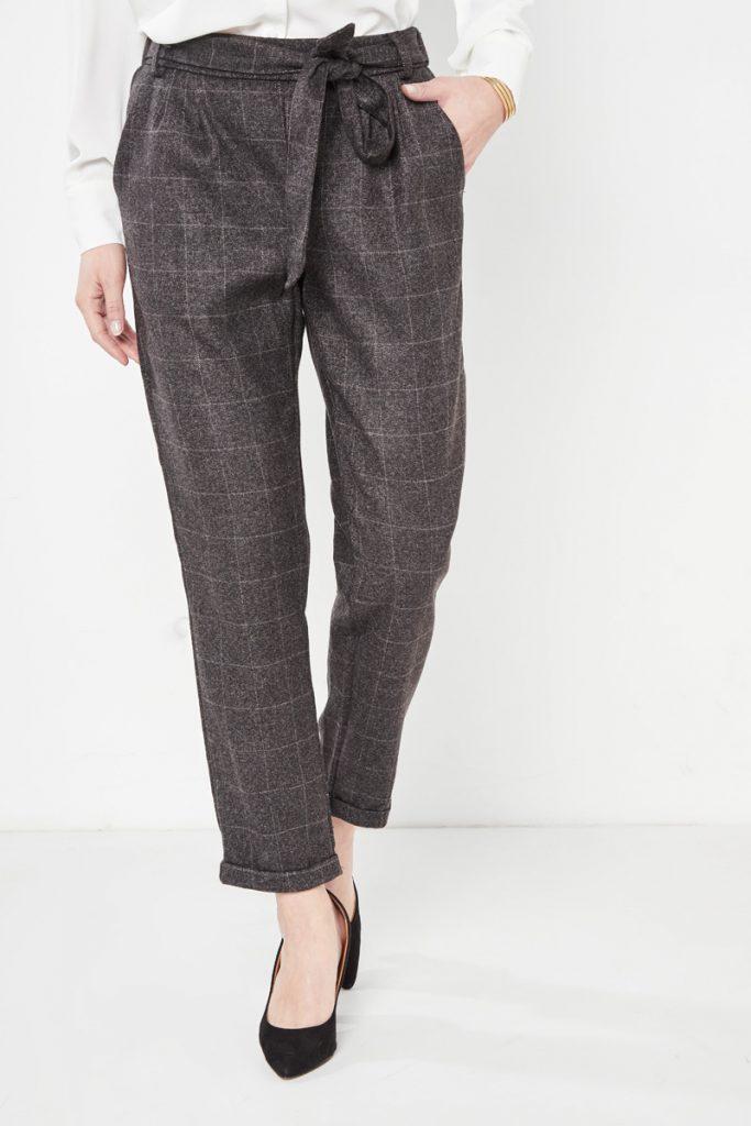 collectionIRL pantalon carotte à carreaux