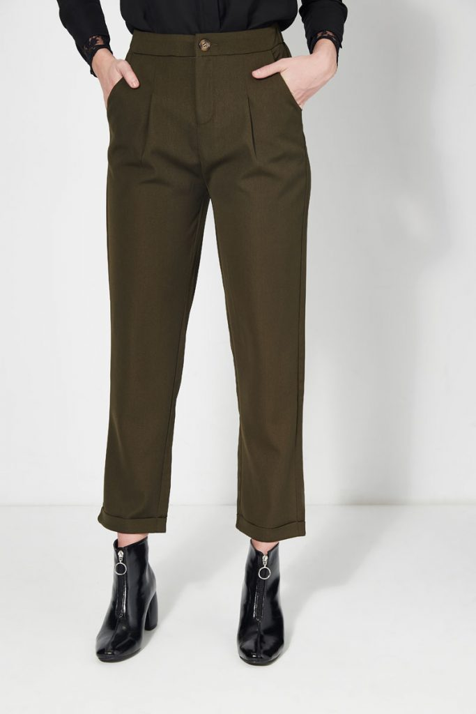 collectionIRL pantalon carotte taille haute