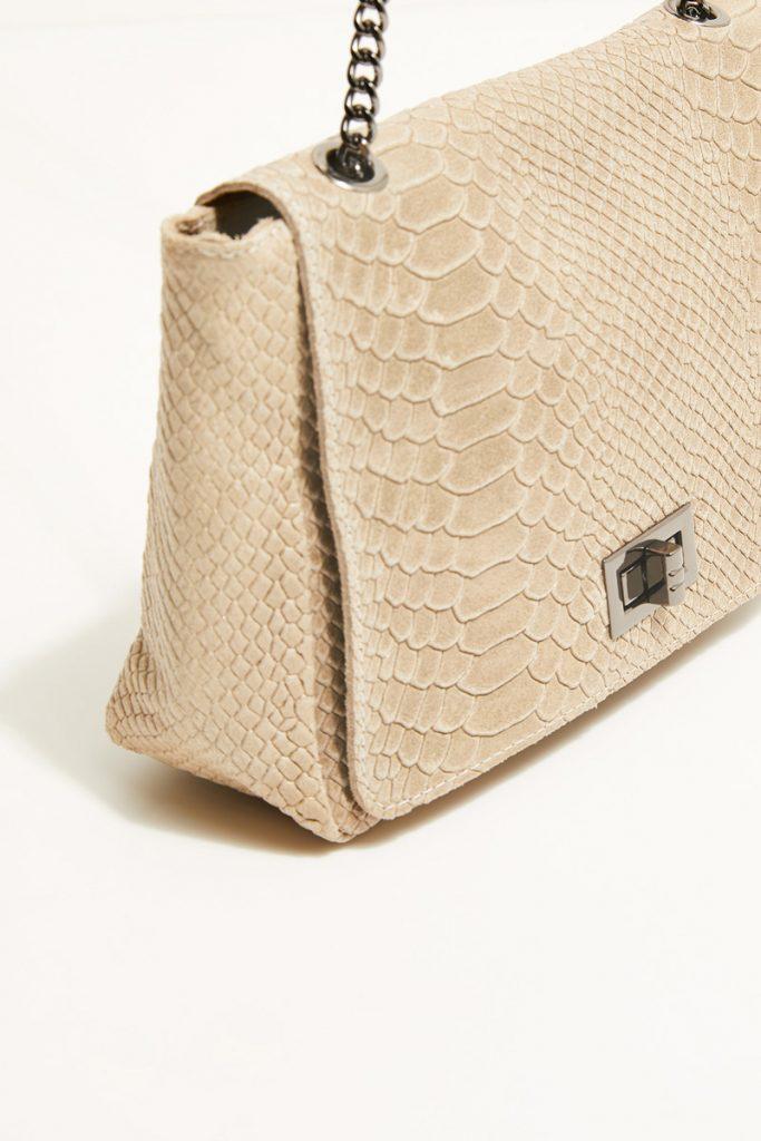 collectionIRL sac bandoulière effet python en cuir