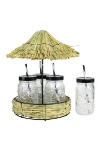 Mes petites gourmandises 4 mason jar support paillote
