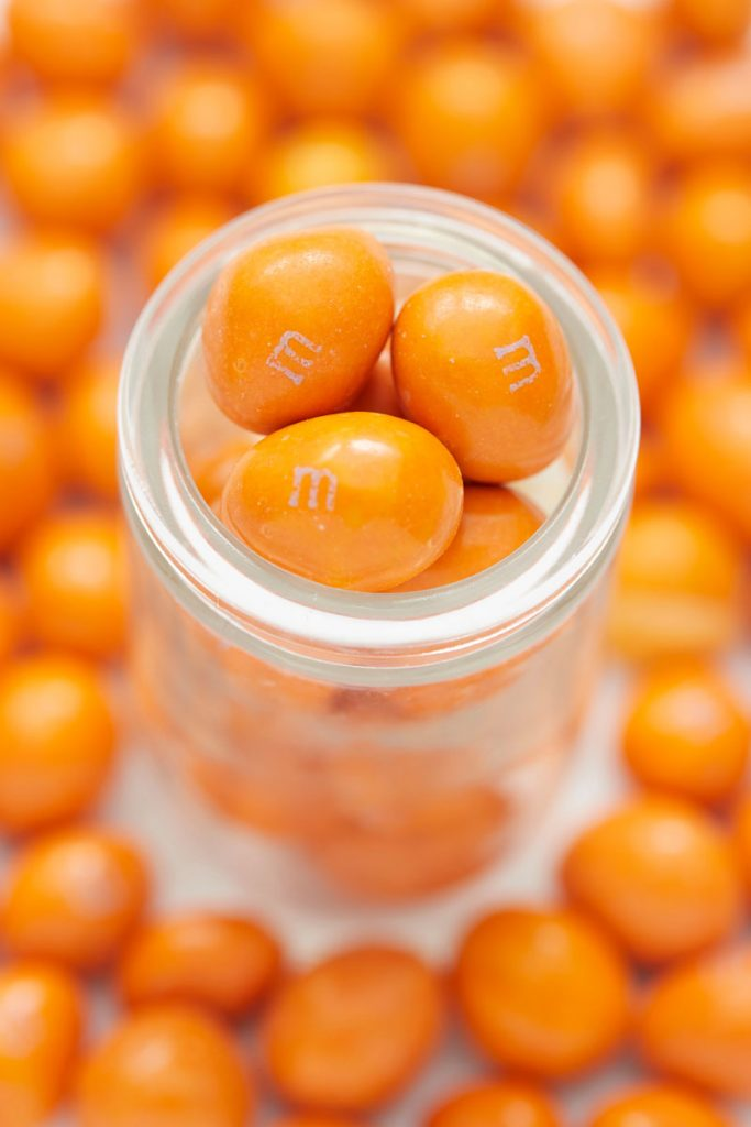 M&M's orange