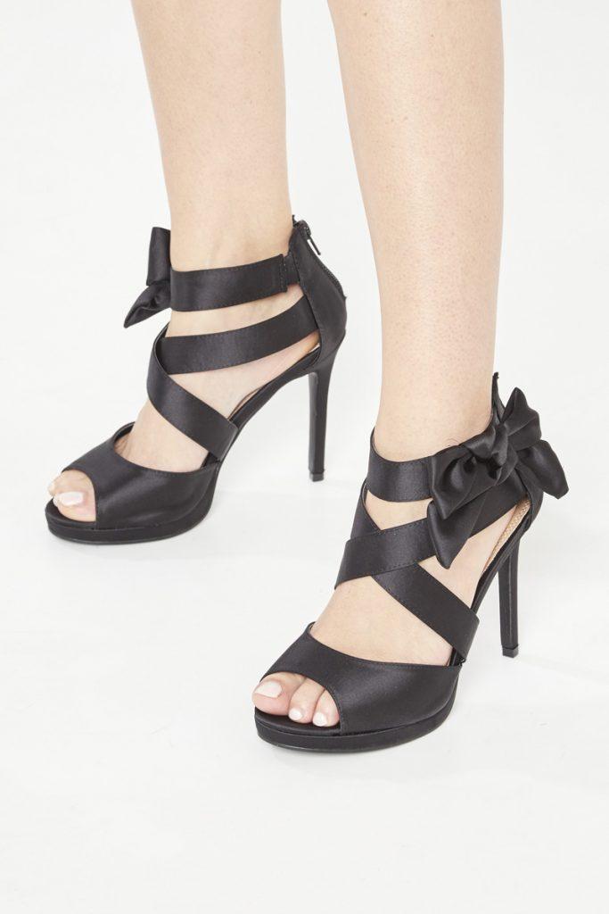 collectionIRL sandales à talons noeud en satin