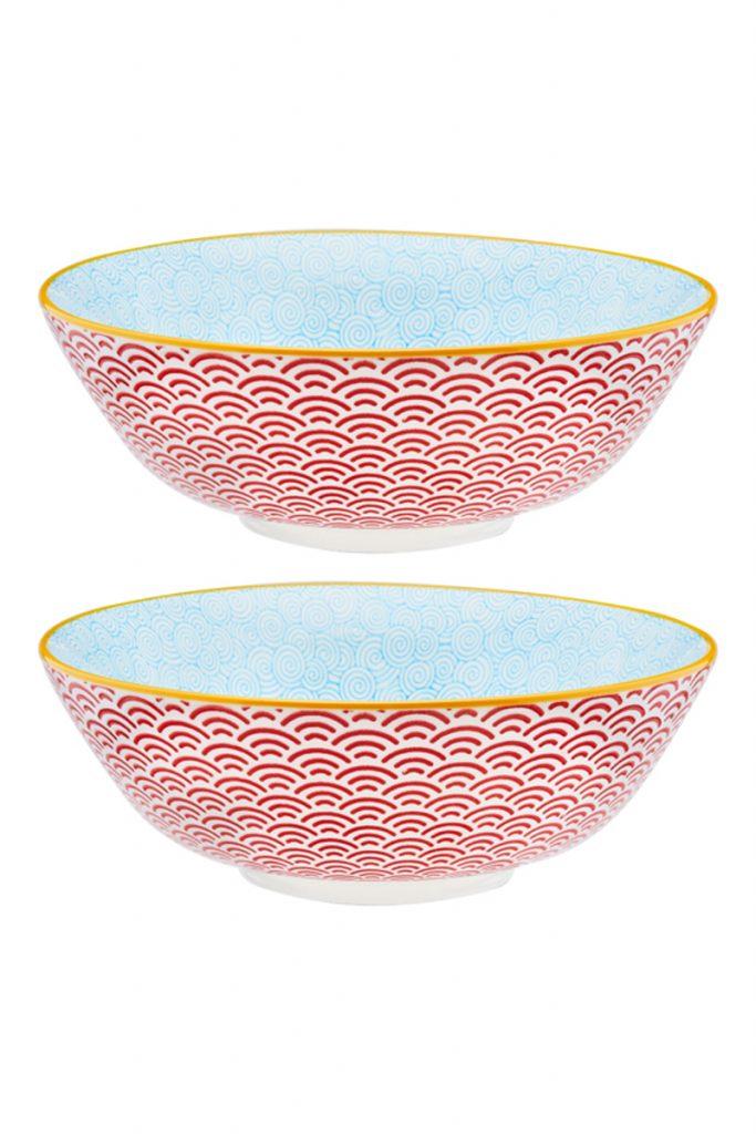 Bjorn 2 bols de salade en céramique