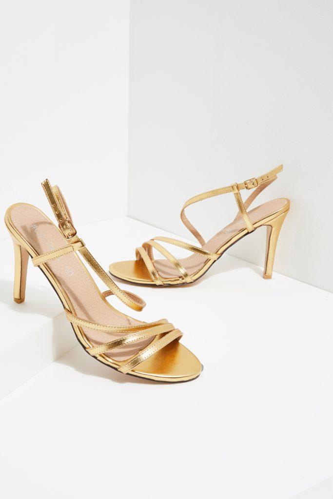 partyIRL sandales à talons métallisées