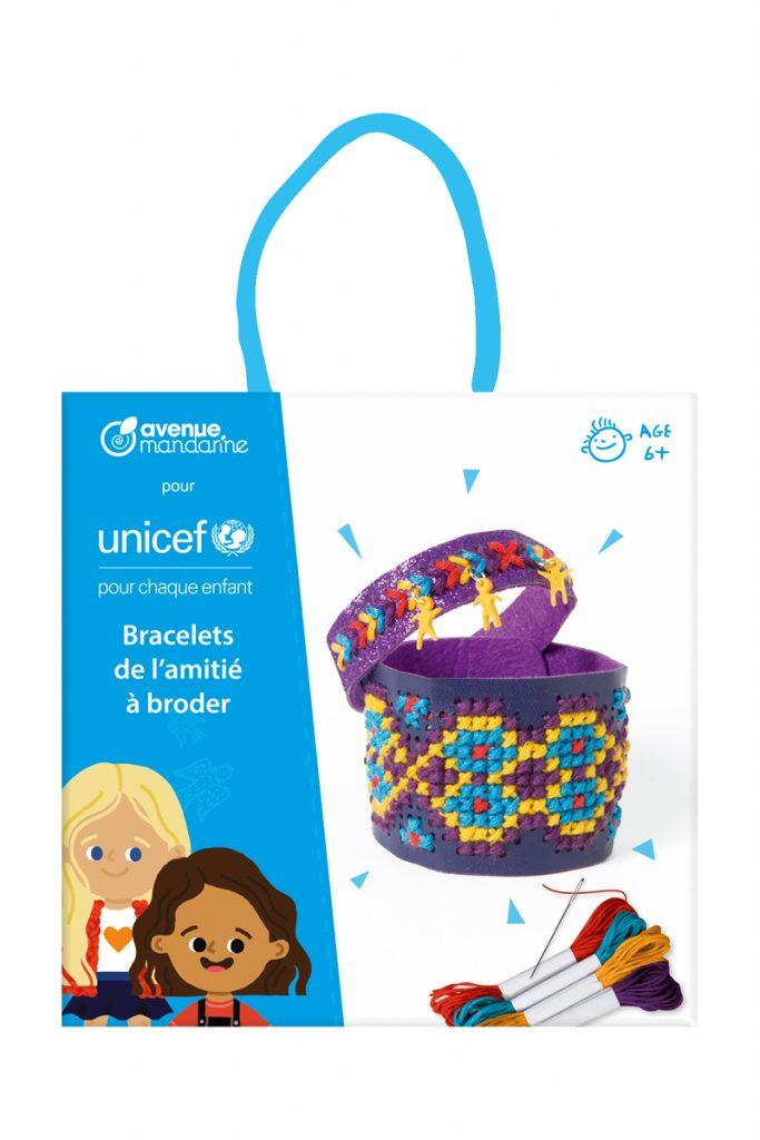 UNICEF 2 bracelets amitié à broder