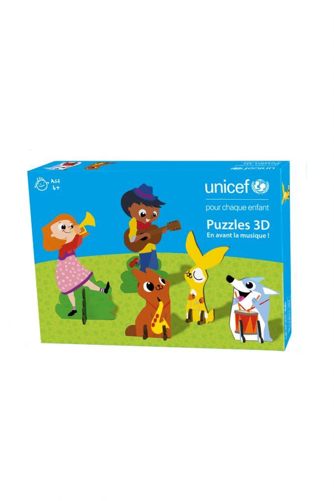 UNICEF 5 puzzles 3D