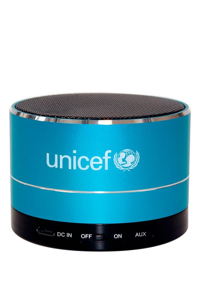 UNICEF enceinte ronde bluetooth