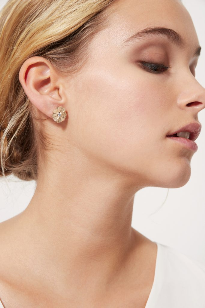 collectionIRL boucles d'oreilles plaqué or jaune avec strass