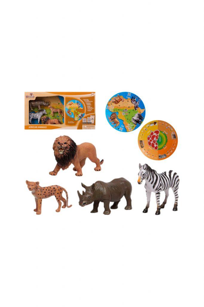 La Petite Boutique Jouets jouets animaux sauvages Afrique et puzzles 5 pièces