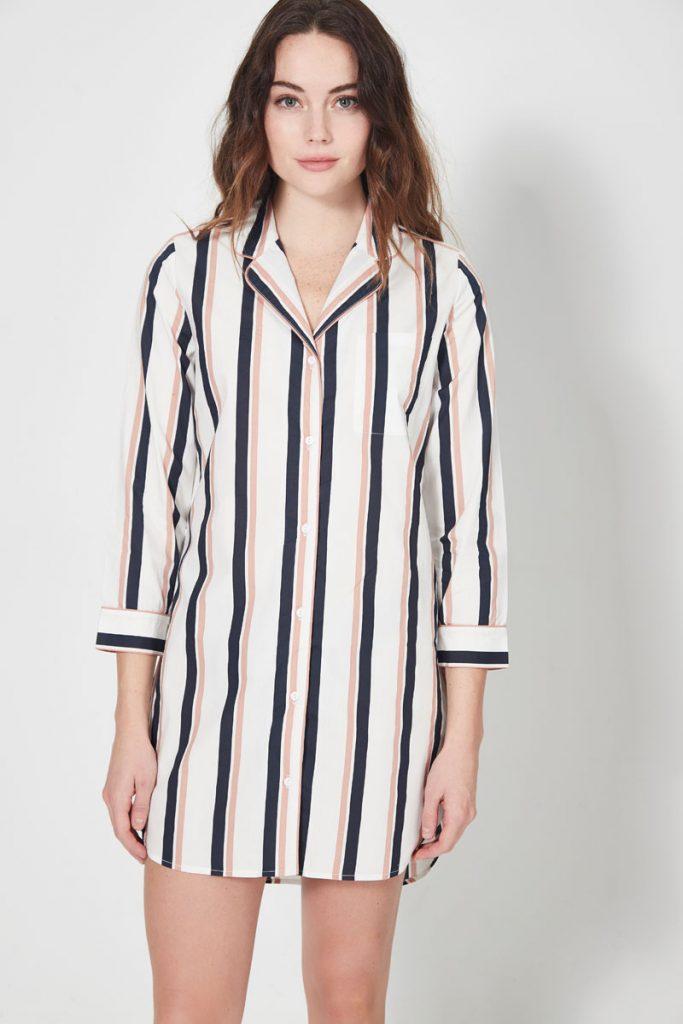 collectionIRL chemise de nuit rayée