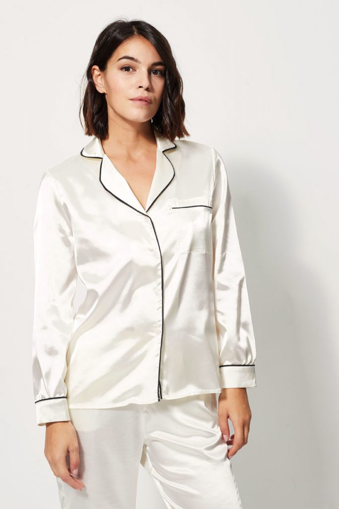 collectionIRL chemise pyjama satinée