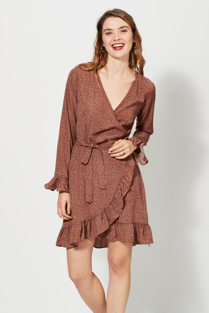 collectionIRL robe portefeuille volantée