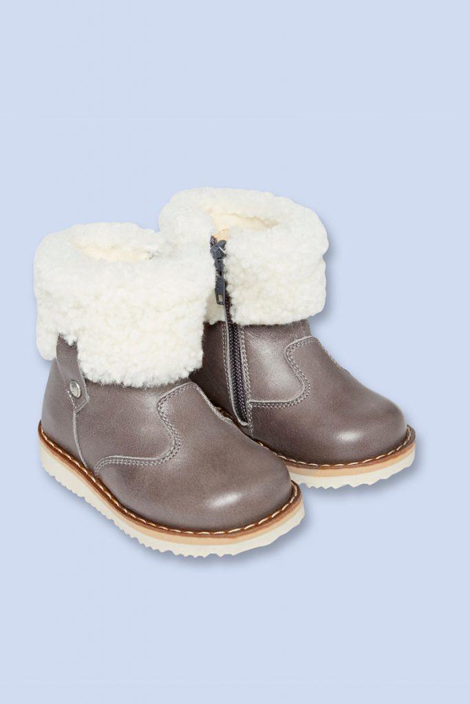 Jacadi boots en cuir fourrées en laine
