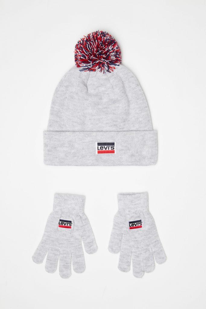 Levi's Kids bonnet à pompom et gants