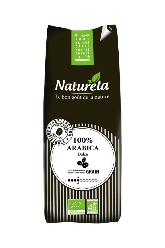 Naturela cafe grains 100 % arabica bio