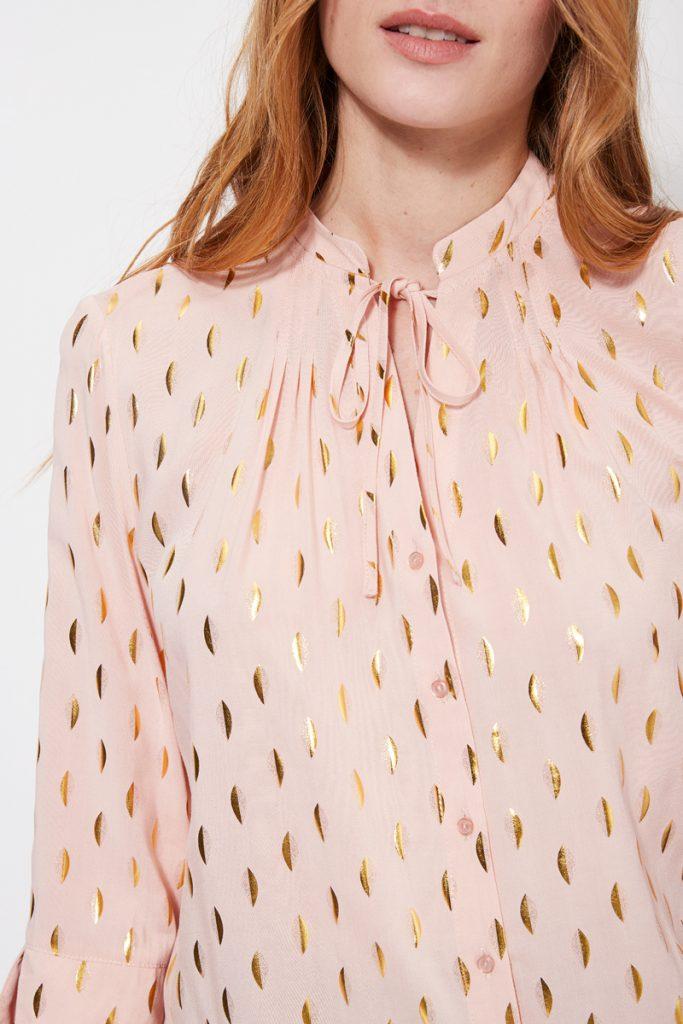 collectionIRL blouse à motifs dorés