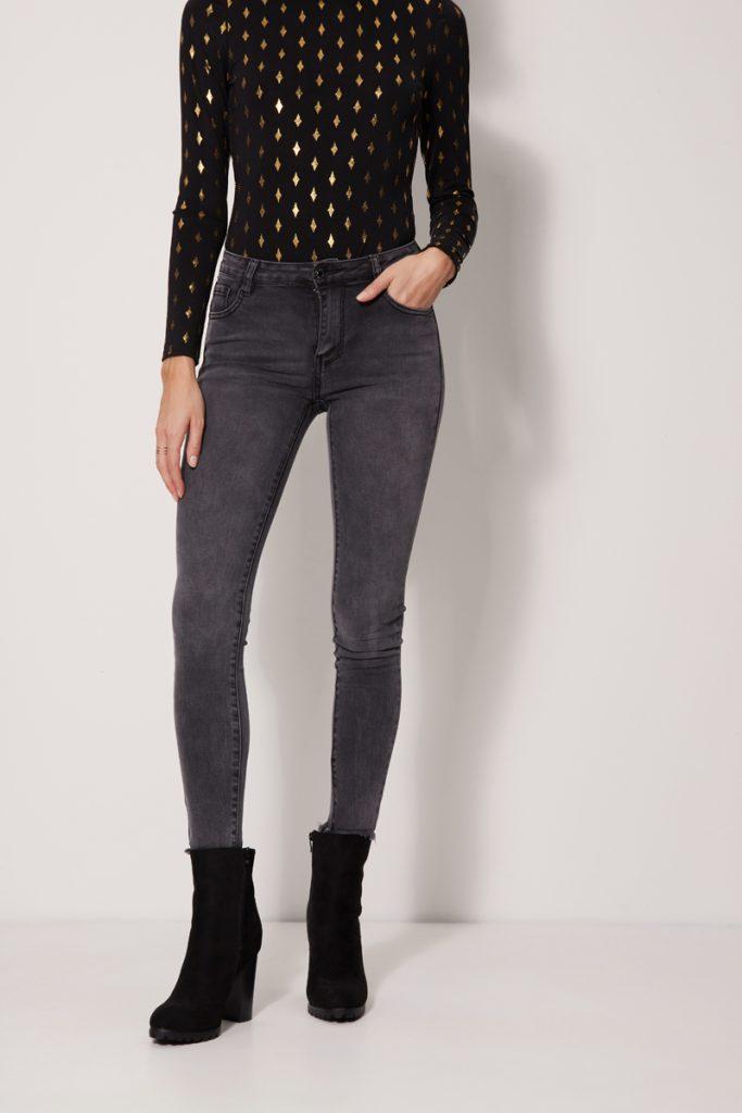 collectionIRL jean slim à franges