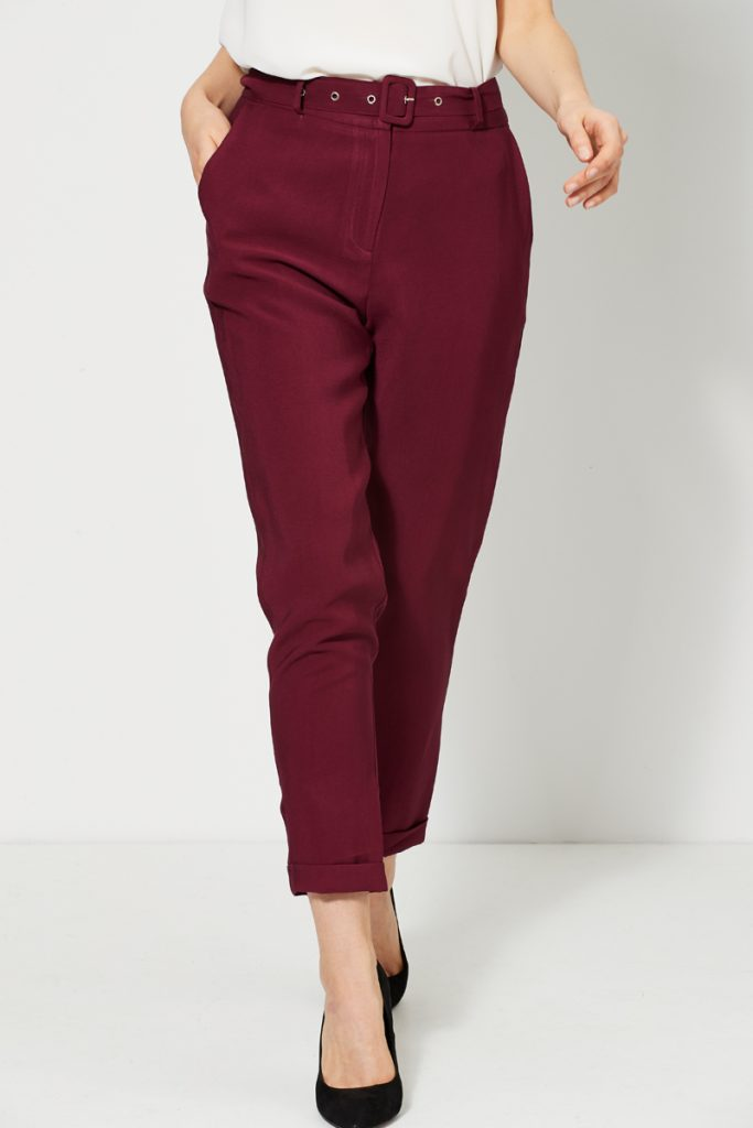 collectionIRL pantalon carotte ceinture