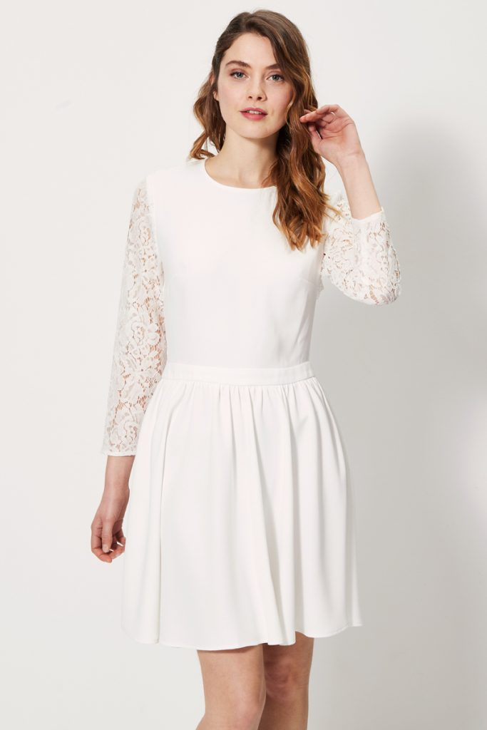 collectionIRL robe patineuse manches dos dentelle