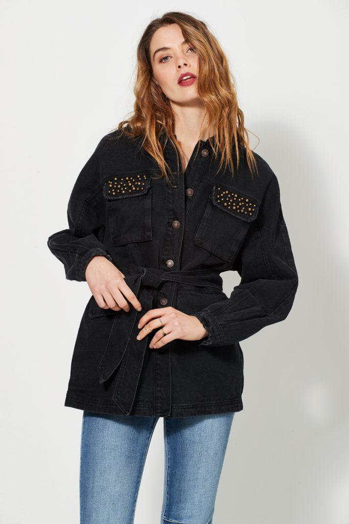 collectionIRL veste en jean à strass
