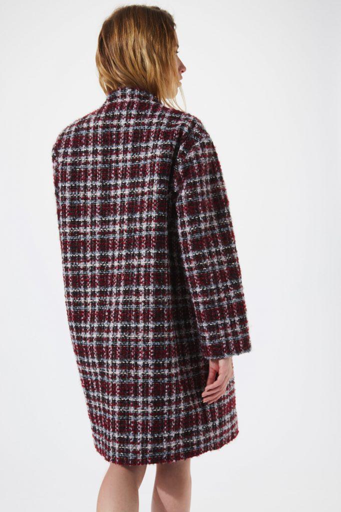 Iro manteau en laine à carreaux