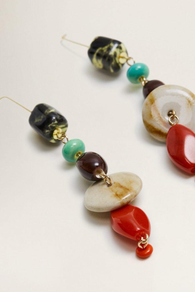 Mango boucles d'oreilles en perles céramique