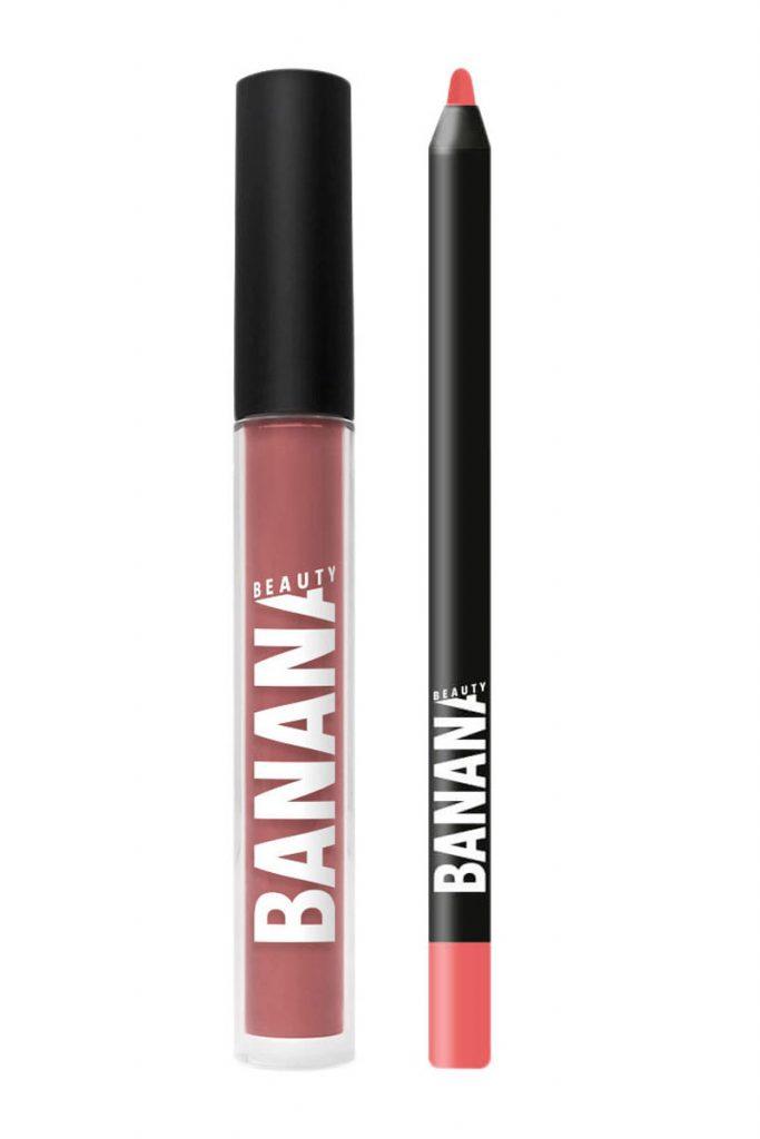 Banana Beauty rouge à lèvres et crayon à lèvres