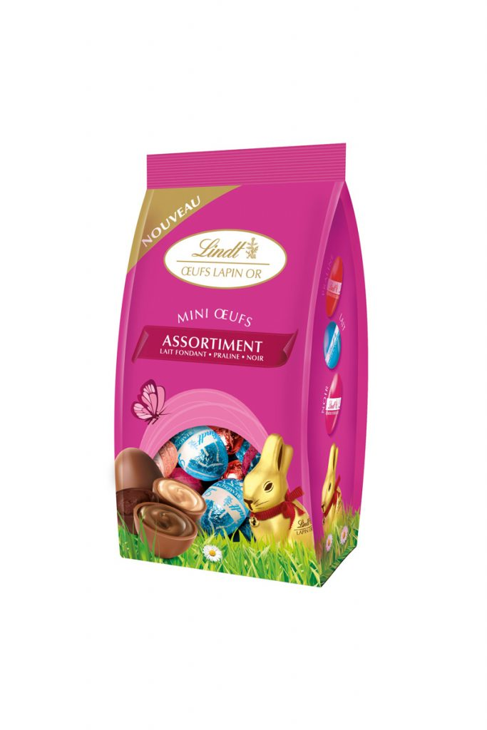 Lindt mini-oeufs lapin or assortiment