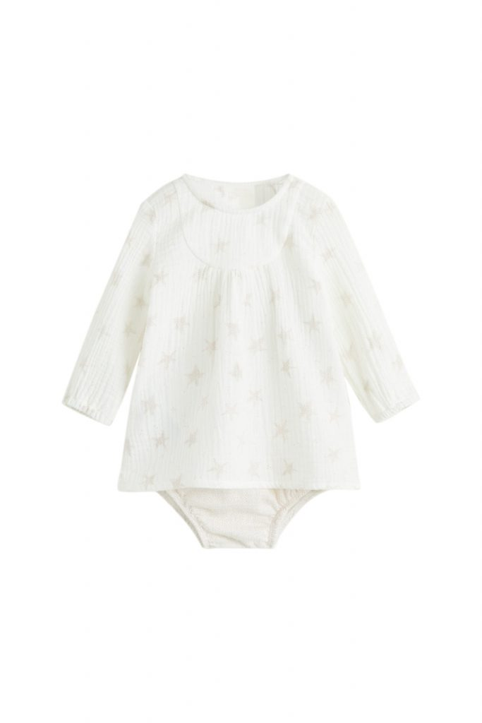 Mango Kids body-robe en coton biologique